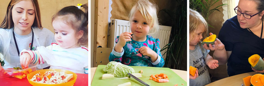 Food discovery at East Dereham Day nursery